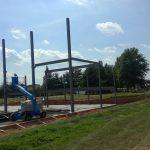 steel columns progress