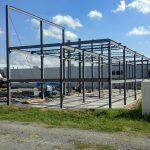 steel framing progress 6