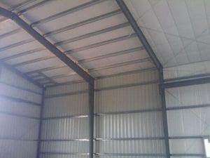 Steelsmith-SteelBuilding-Garage-Taylor'sAgRepairsMetalFrame