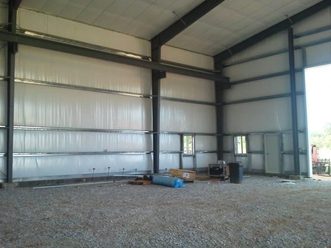 Steelsmith-SteelBuilding-Garage-Taylor'sAgRepairsInside