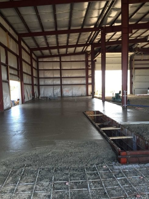Steelsmith-SteelBuilding-Agricultural-NelsonFarms-ConcreteFoundation4