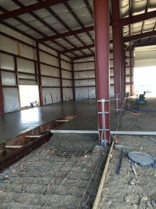 Steelsmith-SteelBuilding-Agricultural-NelsonFarms-ConcreteFoundation3