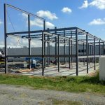 steel framing progress 6