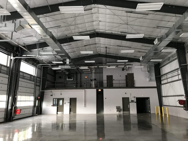 Steel building for bus storage