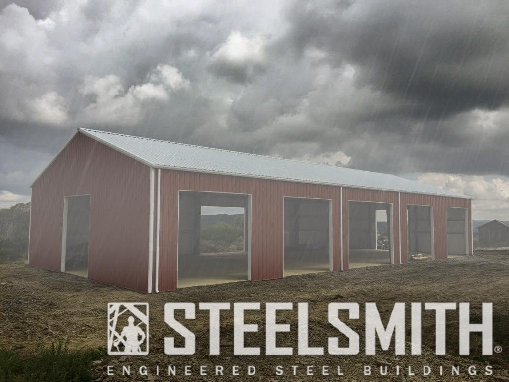 Steel Buildings in bad weather