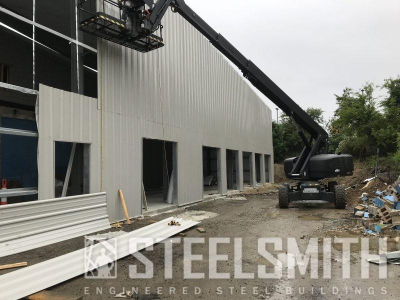 Bld 4 - Wall Sheeting Progress