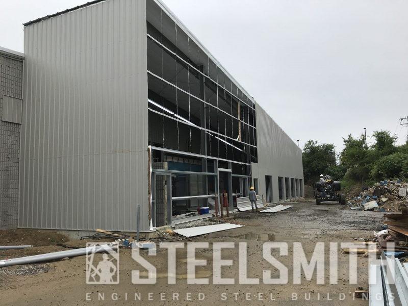 Building 4 - Wall Sheeting Progress