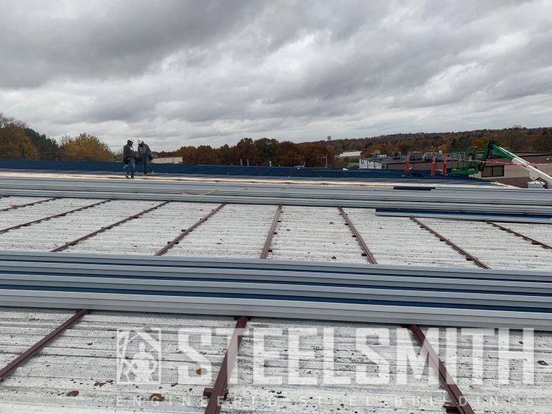 Sohier Roof Overlay progress - Framing installed