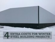 4 Extra Costs for Winter Steel Building Projects