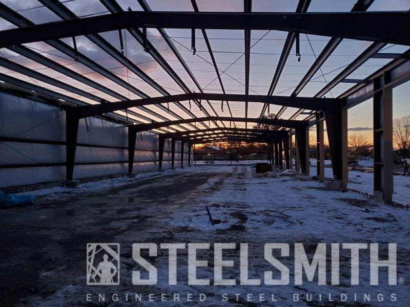 Interior View_Framing_Purlins_Single Layer Wall